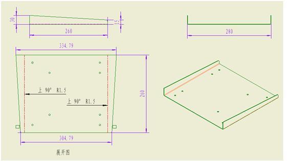 钣金件图纸标注 钣金件图纸技术要求 钣金件cad图纸
