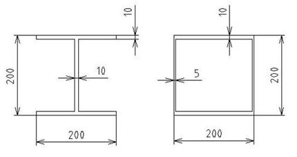 在机械产品钢结构设计中,主要的承载梁多为工字形和箱形截面.