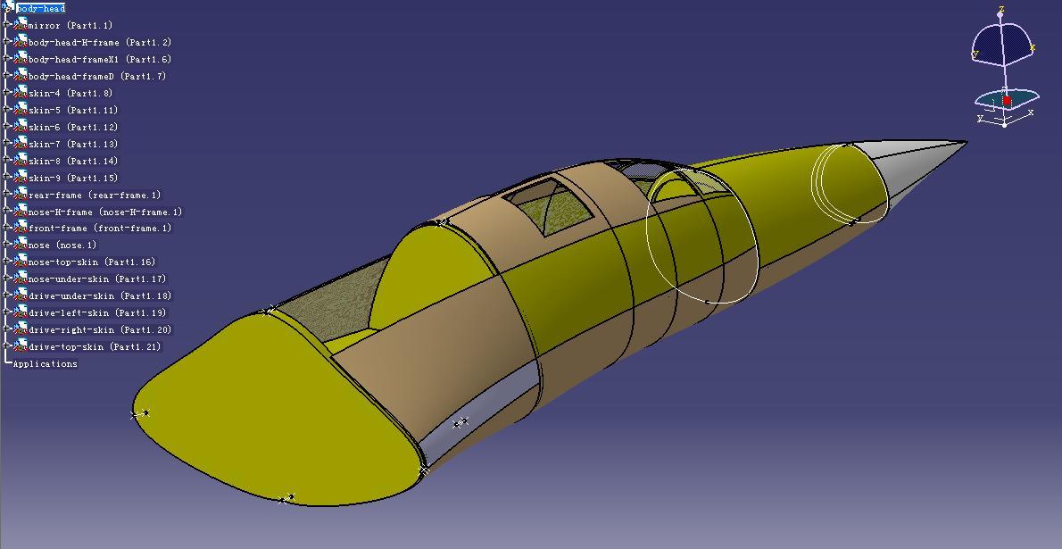 7 机身系统    机身系统的模块划分: