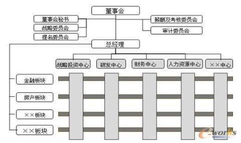 此种组织结构是一种基于母合优势的泛矩阵式组织结构