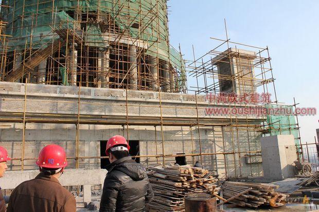 江苏欧式建筑办公楼施工过程