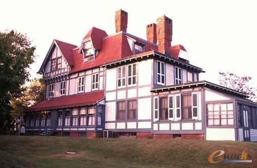 欧式平顶房子外观图